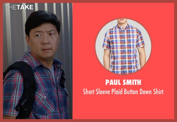 Paul Smith red shirt from Ride Along 2 seen with Ken Jeong (A.J.)