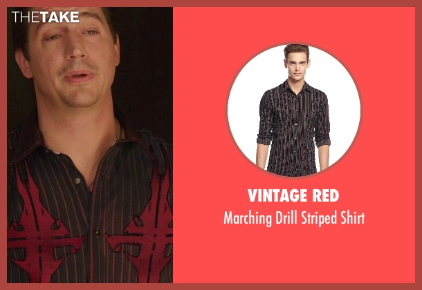 Vintage Red black shirt from We're the Millers seen with Ken Marino (Todd- Strip Club Owner)