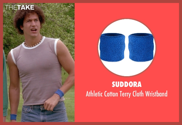 Suddora blue wristband from Wet Hot American Summer seen with Ken Marino (Victor Kulak)