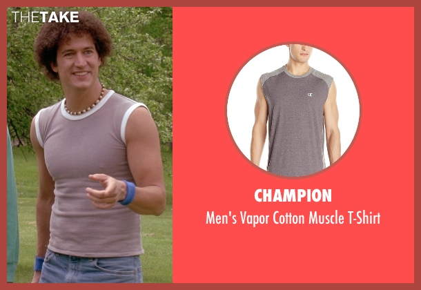 Champion gray t-shirt from Wet Hot American Summer seen with Ken Marino (Victor Kulak)