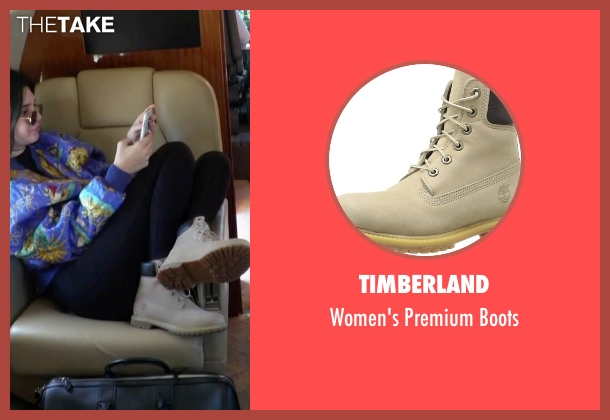 Timberland beige boots from Keeping Up With The Kardashians seen with Kendall Jenner