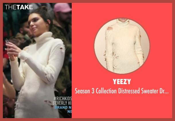 Yeezy beige dress from Keeping Up With The Kardashians seen with Kendall Jenner