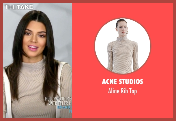 Acne Studios beige top from Keeping Up With The Kardashians seen with Kendall Jenner