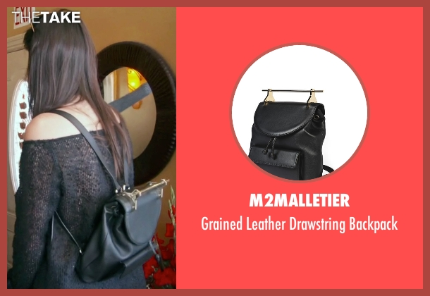 M2Malletier black backpack from Keeping Up With The Kardashians seen with Kendall Jenner