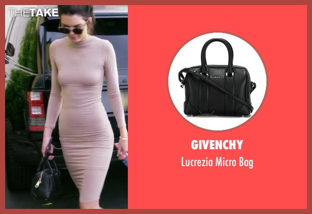 Givenchy black bag from Keeping Up With The Kardashians seen with Kendall Jenner