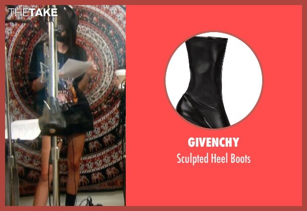Givenchy   black boots from Keeping Up With The Kardashians seen with Kendall Jenner
