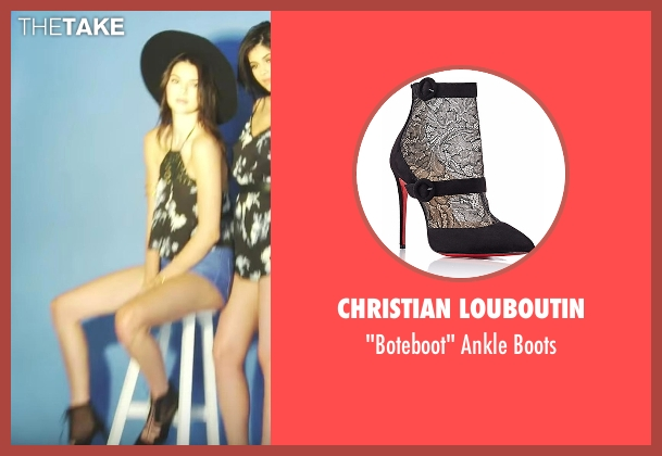 Christian Louboutin black boots from Keeping Up With The Kardashians seen with Kendall Jenner
