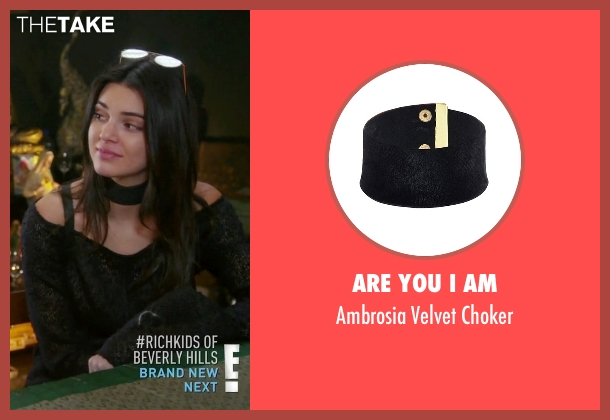 Are You I Am black choker from Keeping Up With The Kardashians seen with Kendall Jenner