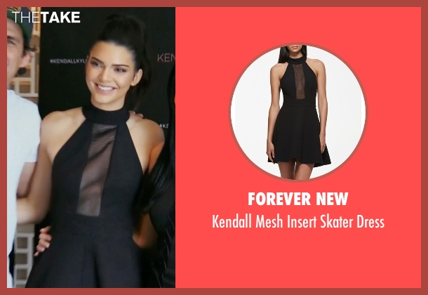 Forever New black dress from Keeping Up With The Kardashians seen with Kendall Jenner