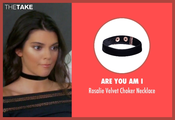 Are You Am I black necklace from Keeping Up With The Kardashians seen with Kendall Jenner