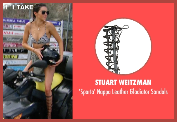 Stuart Weitzman  black sandals from Keeping Up With The Kardashians seen with Kendall Jenner