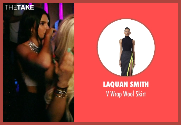 LaQuan Smith black skirt from Keeping Up With The Kardashians seen with Kendall Jenner