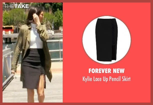 Forever New black skirt from Keeping Up With The Kardashians seen with Kendall Jenner