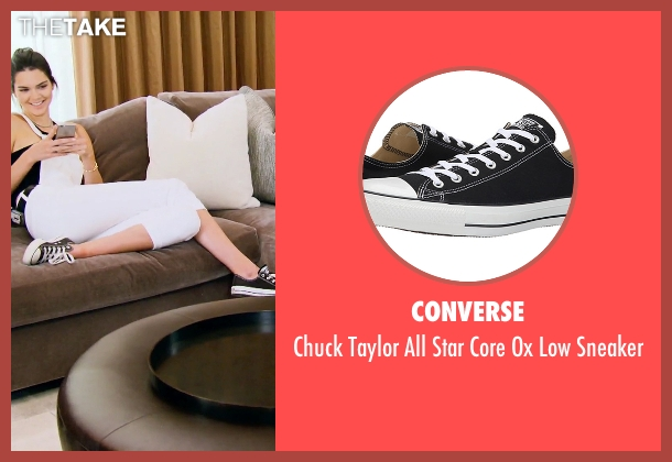 Converse black sneaker from Keeping Up With The Kardashians seen with Kendall Jenner