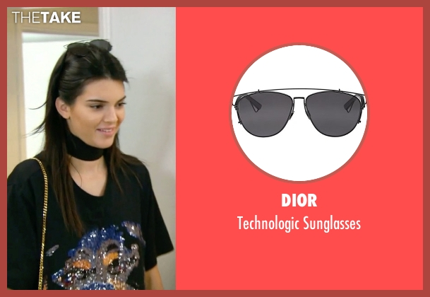 Dior black sunglasses from Keeping Up With The Kardashians seen with Kendall Jenner