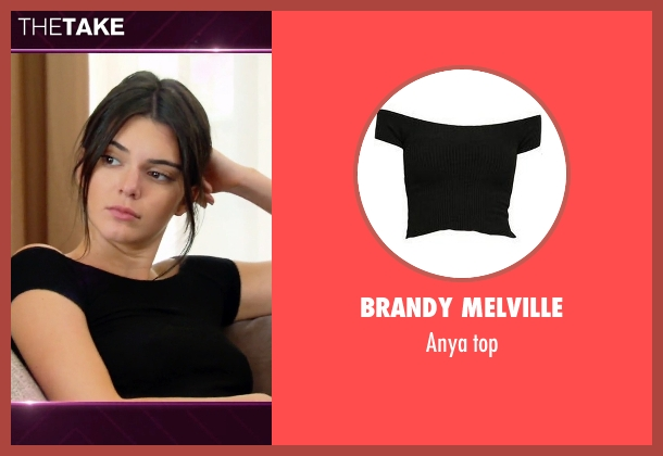 Brandy Melville black top from Keeping Up With The Kardashians seen with Kendall Jenner