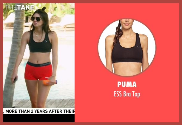 Puma black top from Keeping Up With The Kardashians seen with Kendall Jenner