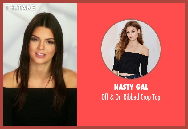 Nasty Gal black top from Keeping Up With The Kardashians seen with Kendall Jenner