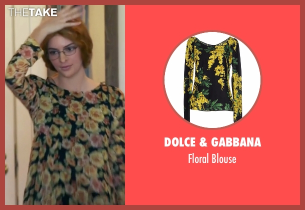 Dolce & Gabbana black blouse from Keeping Up With The Kardashians seen with Kendall Jenner