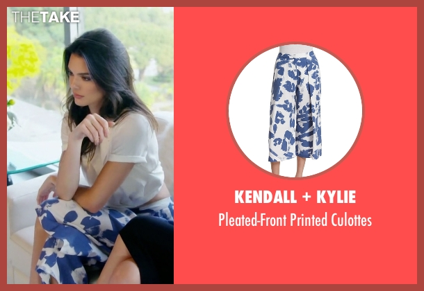 Kendall + Kylie blue culottes from Keeping Up With The Kardashians seen with Kendall Jenner