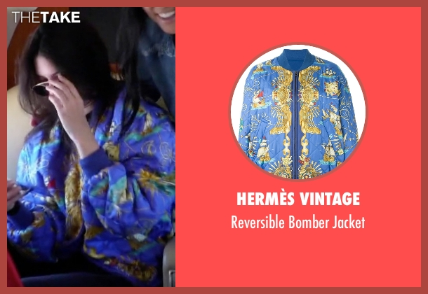 Hermès Vintage blue jacket from Keeping Up With The Kardashians seen with Kendall Jenner