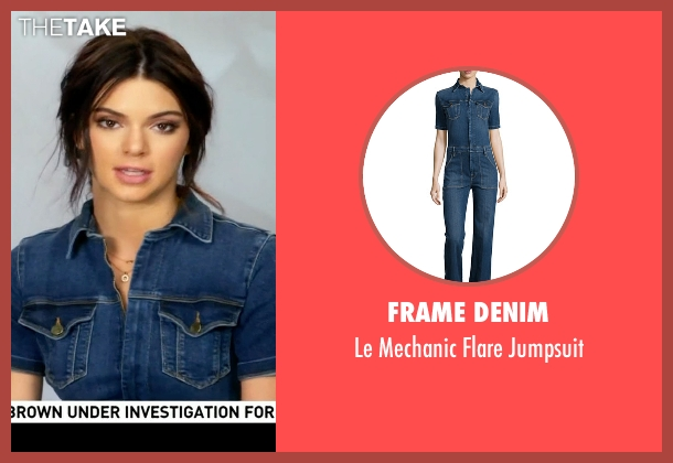 Frame Denim blue jumpsuit from Keeping Up With The Kardashians seen with Kendall Jenner