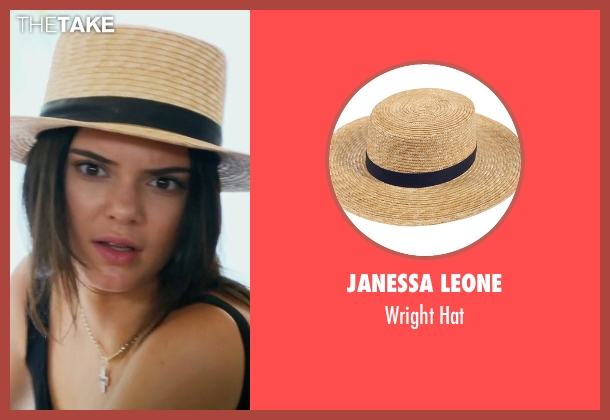 Janessa Leone brown hat from Keeping Up With The Kardashians seen with Kendall Jenner
