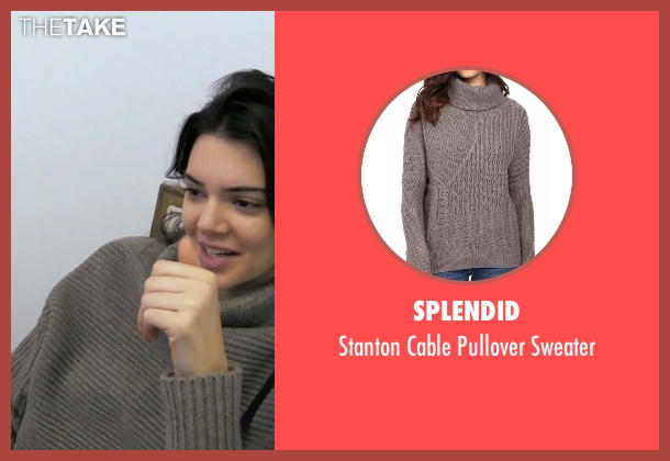 Splendid brown sweater from Keeping Up With The Kardashians seen with Kendall Jenner