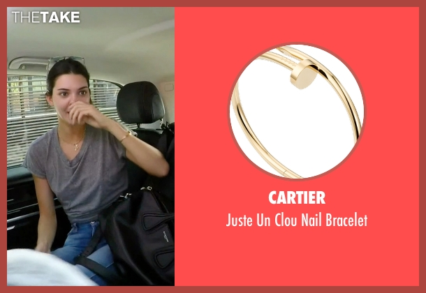 Cartier gold bracelet from Keeping Up With The Kardashians seen with Kendall Jenner
