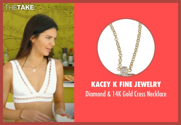 Kacey K Fine Jewelry gold necklace from Keeping Up With The Kardashians seen with Kendall Jenner