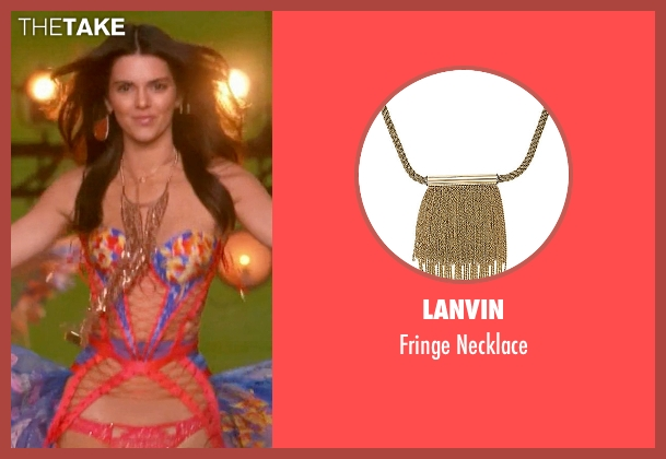 Lanvin gold necklace from Keeping Up With The Kardashians seen with Kendall Jenner