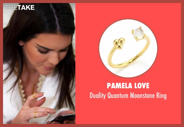Pamela Love gold ring from Keeping Up With The Kardashians seen with Kendall Jenner