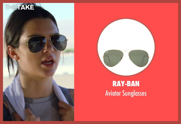 Ray-Ban gold sunglasses from Keeping Up With The Kardashians seen with Kendall Jenner