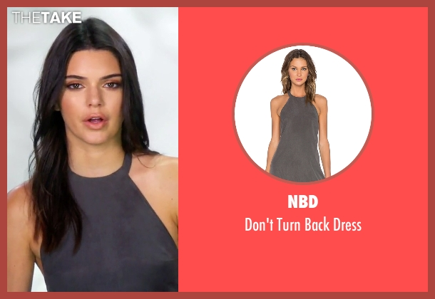 NBD gray dress from Keeping Up With The Kardashians seen with Kendall Jenner