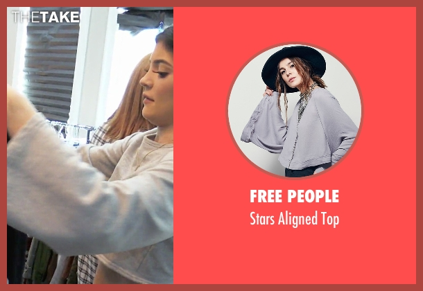 Free People gray top from Keeping Up With The Kardashians seen with Kendall Jenner