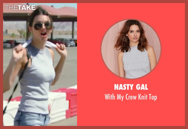 Nasty Gal  gray top from Keeping Up With The Kardashians seen with Kendall Jenner