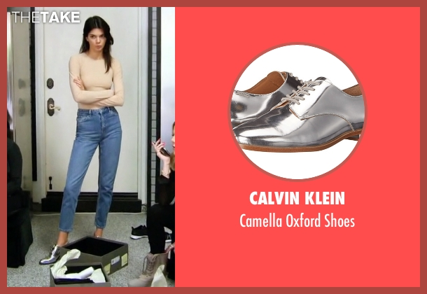 Calvin Klein silver shoes from Keeping Up With The Kardashians seen with Kendall Jenner