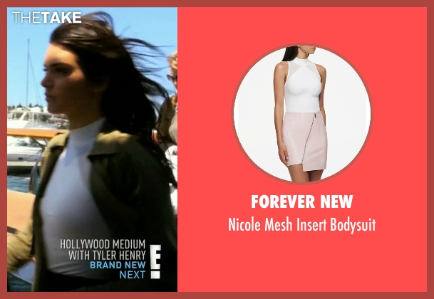 Forever New white bodysuit from Keeping Up With The Kardashians seen with Kendall Jenner