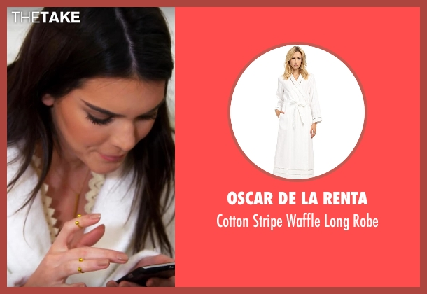 Oscar De La Renta white robe from Keeping Up With The Kardashians seen with Kendall Jenner
