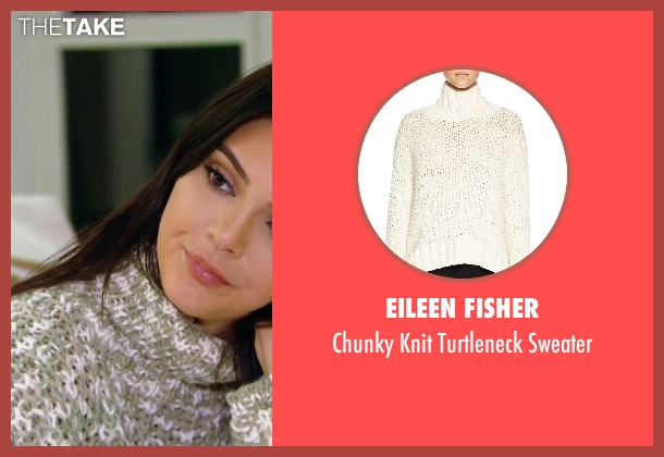 Eileen Fisher white sweater from Keeping Up With The Kardashians seen with Kendall Jenner