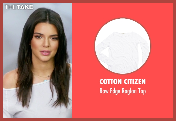 Cotton Citizen white top from Keeping Up With The Kardashians seen with Kendall Jenner