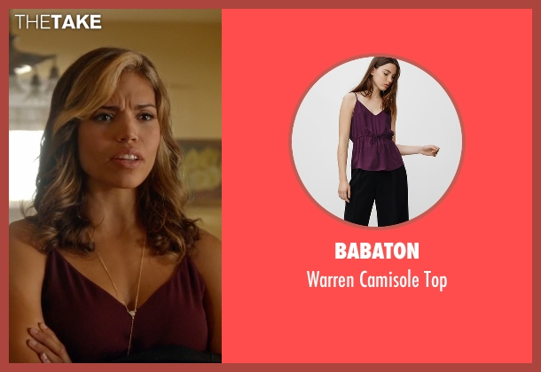 Babaton red top from Arrow seen with Kendra Saunders / Hawkgirl (Ciara Renée)