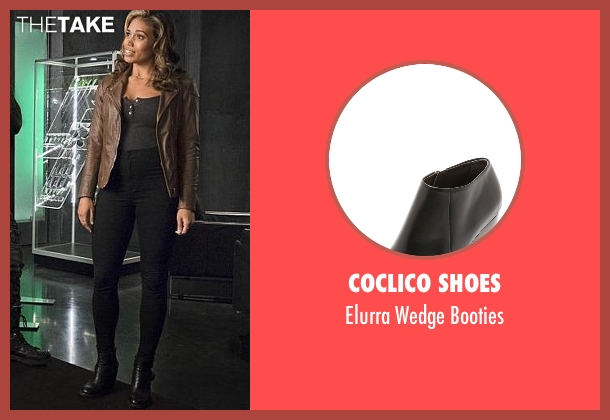 Coclico Shoes black booties from The Flash seen with Kendra Saunders / Hawkgirl (Ciara Renée)