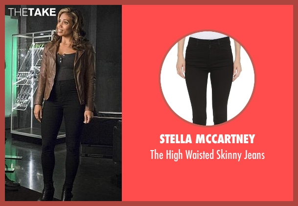Stella McCartney black jeans from The Flash seen with Kendra Saunders / Hawkgirl (Ciara Renée)