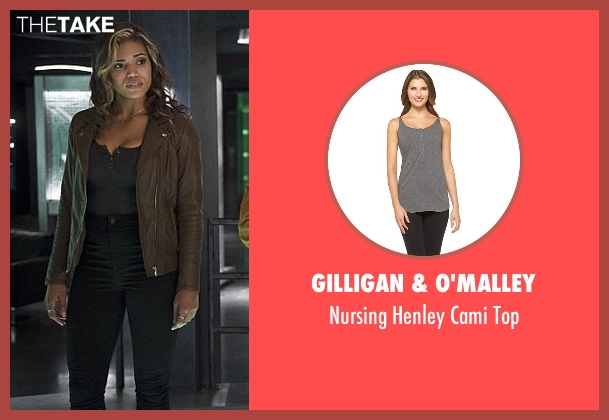Gilligan & O'malley gray top from The Flash seen with Kendra Saunders / Hawkgirl (Ciara Renée)