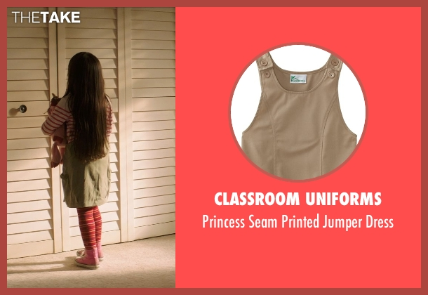 Classroom Uniforms beige dress from Poltergeist seen with Kennedi Clements (Madison Bowen)