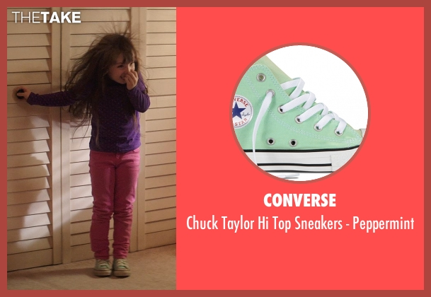 Converse green peppermint from Poltergeist seen with Kennedi Clements (Madison Bowen)