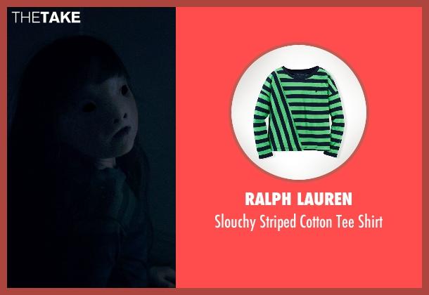 Ralph Lauren green shirt from Poltergeist seen with Kennedi Clements (Madison Bowen)