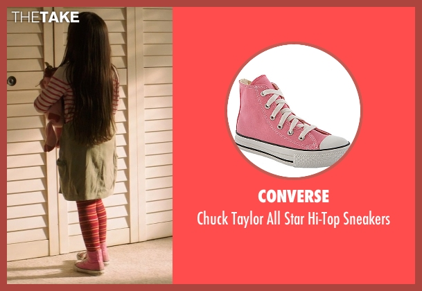 Converse pink sneakers from Poltergeist seen with Kennedi Clements (Madison Bowen)