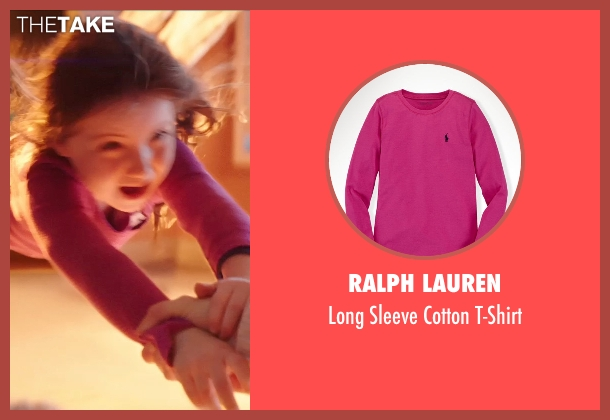 Ralph Lauren pink t-shirt from Poltergeist seen with Kennedi Clements (Madison Bowen)